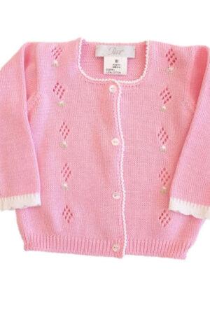 Giacchino in filo neonata