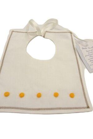 Bavetta neonato ricamata