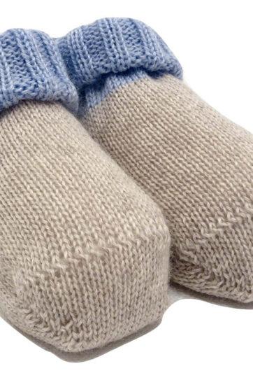 Scarpine nascita in lana Bebè di Almy