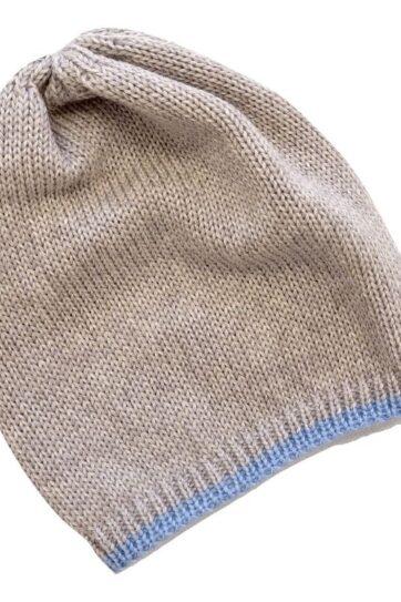 Cappellino neonato in lana merinos