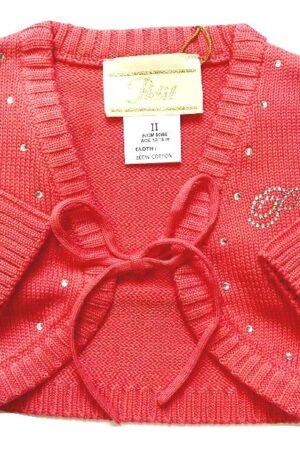 Bolero Petit in filo di cotone per bambina