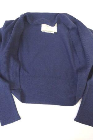 Scaldaspalle per bambina in cotone colore blu denim