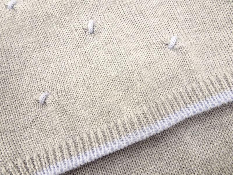 Completo 2 pezzi in lana per neonato