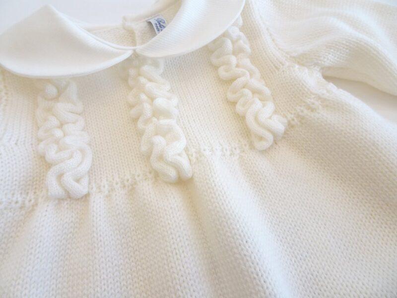 Completo 2 pezzi in lana merinos per neonata