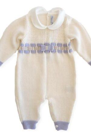 Tutina in lana merinos per neonata