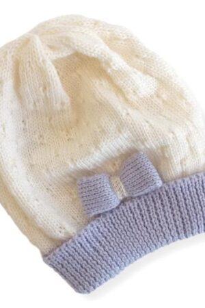 Cappellino in lana merinos per neonata