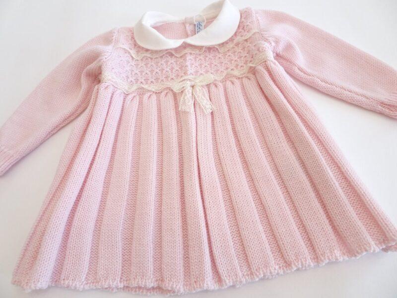 Vestitino in lana merinos per neonata