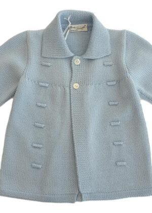 Cappottino in lana merinos celeste per bambino.