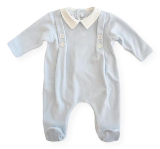 Tuta neonato con piedini della linea Baby di Aletta