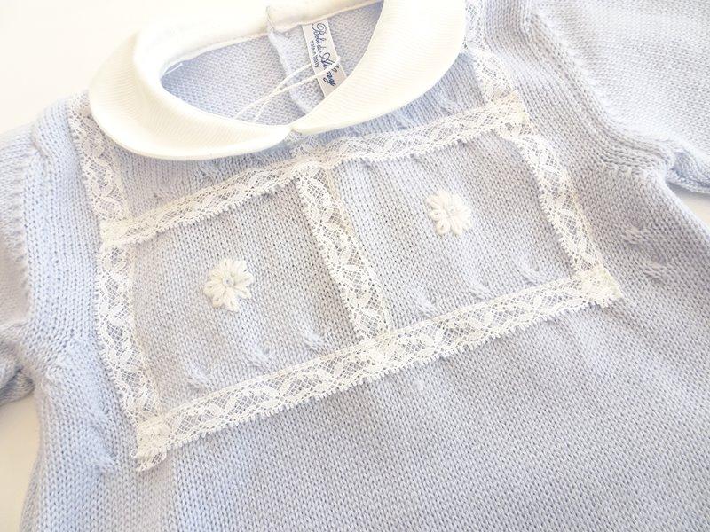 Tutina in lana merinos per neonato