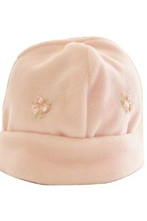 Cappellino neonata ricamato