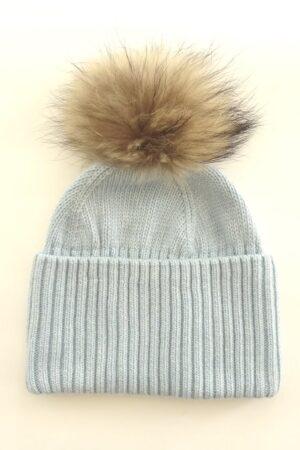 Cappello in lana con pelliccia