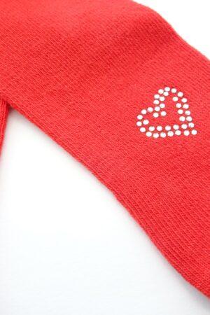 Collant caldo cotone rosso