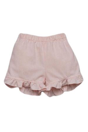 Short bambina in cotone rosa Aletta