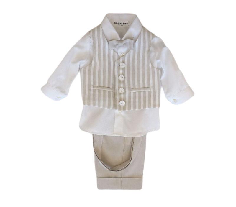 Completo battesimo neonato Colori Chiari
