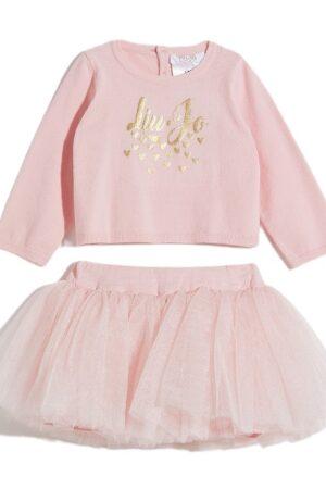 Completino rosa maglia e gonna Liu-jo