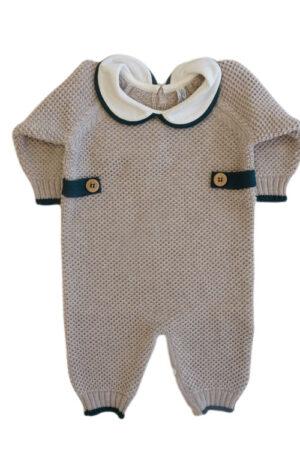 Tutina in lana merinos per neonato Bèbè di Almy