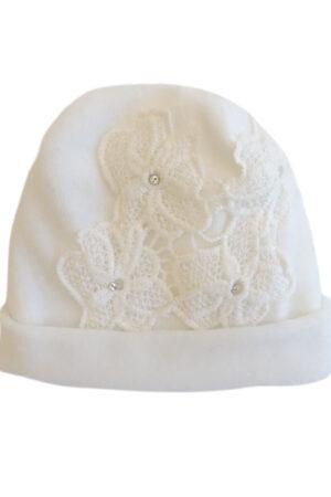 Cappellino ciniglia da neonata
