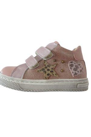Sneaker bassa rosa in pelle Rossano