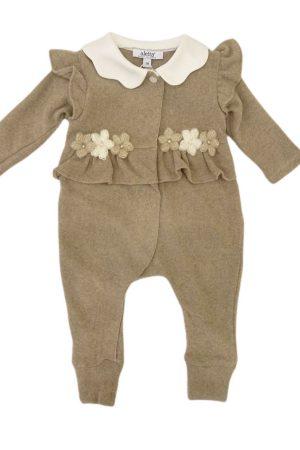Tutina neonata in cotone caldo di Aletta