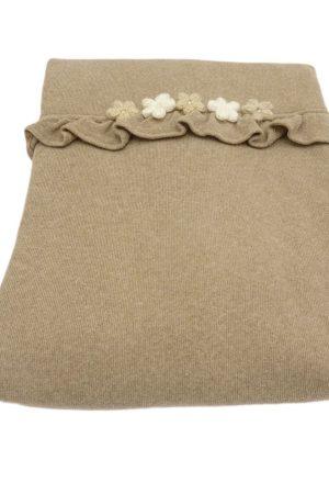 Copertina in caldo cotone con fiori di Aletta