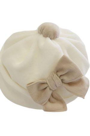 Cappellino neonata con fiocco di Aletta