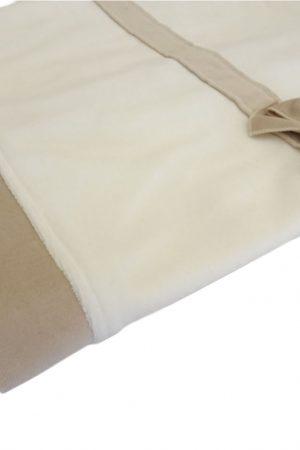 Copertina culla panna ecru in ciniglia di cotone Aletta