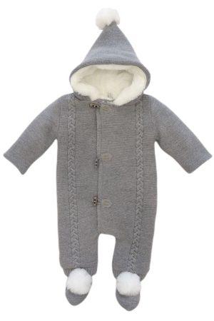 Tutone intero con cappuccio per neonati in lana Martìn Aranda